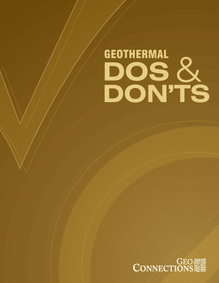 Geothermal Dos and Don'ts